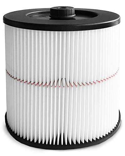 Wet/Dry Cartridge Filter Replacement Cartridge for Craftsman 9-17816 fits 5 Gallon and Larger Vacuum Cleaner – Washable and Reusable Shop (white)