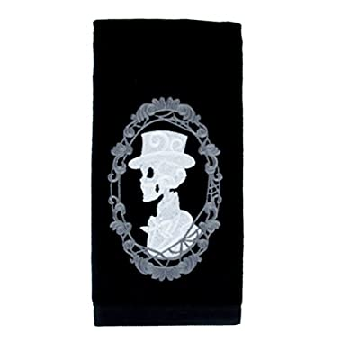 YDS Accessories Haunted Mansion His Skeleton Halloween Hand Towel Kitchen and Bath Gothic Home Decor