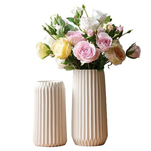 Diseño 1pc Origami Diseño florero blanco florero de cerámica de porcelana del florero hidropónico de contenedores for el hogar decoración de la boda (sin flores secadas) para la pared de la sala de es