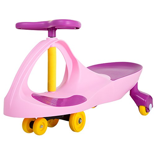 Ride on Toy Wiggle Car by Lil' Rider – Ride on Toys for Boys and Girls, 2 Year Old And Up, (Pink and Purple)