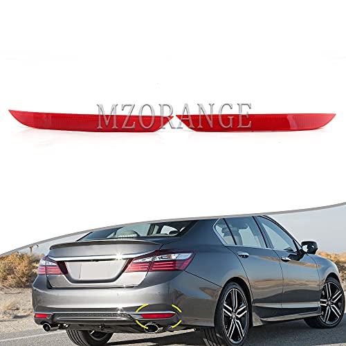 Clidr Rear Bumper Cover Reflector for Honda Accord Sedan 2016 2017 Driver Passenger Side (Left & Right)