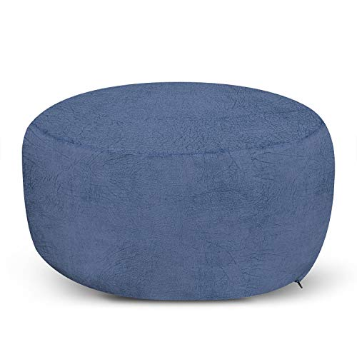 Ambesonne Faux Suede Ottoman Pouf, Digitally Printed Weathered Texture, Decorative Soft Foot Rest with Removable Cover Living Room Bedroom Dorm and Office Furniture, Lavender Blue