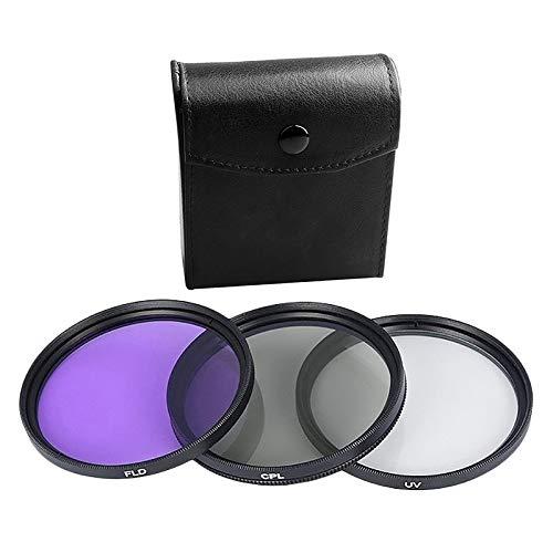 Tamkyo Nuovo Obiettivo UV 77MM + Obiettivo CPL + Obiettivo FLD Set di Filtri per Obiettivi 3 nel 1 con Sacchetto per Cannone Obiettivo Fotografico