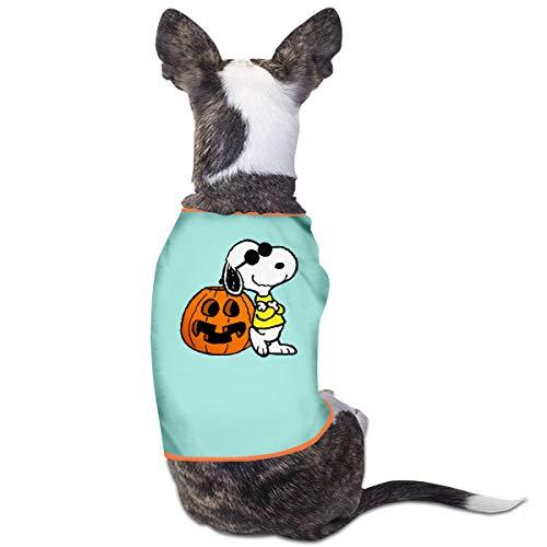 Smile Shop Halloween Snoopy Calabaza Mascota Ropa, Divertido Perro Disfraz