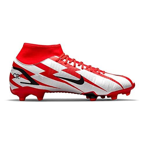 Nike Mercurial Superfly 8 Academy CR7 MG, Scarpe da Calcio Unisex-Adulto, Chile Red/Black-White-Total Orange, 39 EU