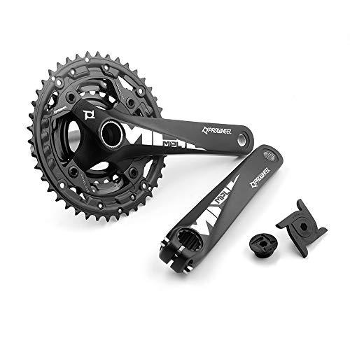 LICHUXIN Juego de la Bicicleta de la Bicicleta de montaña 170 mm, 104BCD La manivela Izquierda y Derecha Contiene 42-32-24T Casillo de Tres Capas, Compatible con Velocidad de 9/10/11, Accesorios MTB