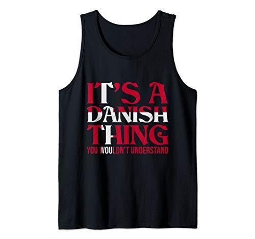 Dänemark Fahne Dänische Flagge Skandinavisch Wikinger Urlaub Tank Top