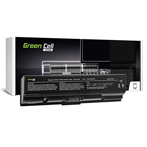 Green Cell Pro Batería para Toshiba Satellite L505-111 L505-112 L505-119 L505-124 L505-12W L505-138 L505-139 L505-13D L505-13E L505-13N L505-14D L505-14K Portátil (5200mAh 10.8V Negro)