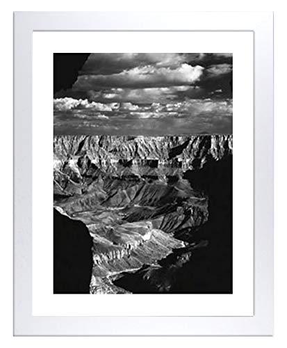 Montecarlo Bilderrahmen Posterrahmen 75x98 cm Puzzlerahmen Weiss Hochglanz genau passend für Puzzle Poster Kunstduck 98x75 cm