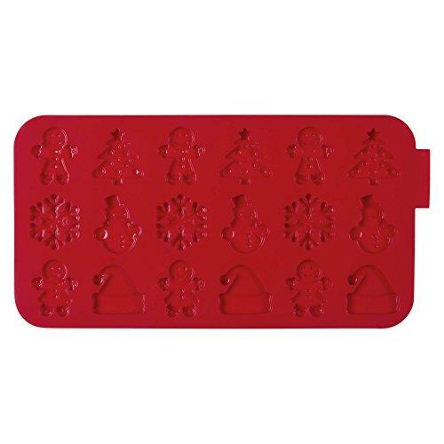 Molde de silicona para chocolate (6 diseños, 18 compartimentos, apto para lavavajillas), en paquete de regalo