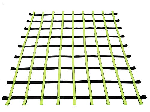 Fong 8 ft X 8 ft Climbing Cargo Net Black & Green- Playground Cargo Net - Outdoor Climbing Net for Kids - Climbing Net for Swingset