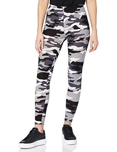 Urban Classics Damen und Mädchen Camo Leggings, lange Camouflage Sporthose für Frauen, Yogahose, snow camo , S