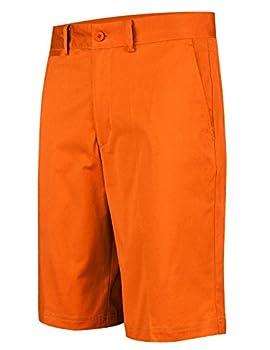 Lesmart Men s Golf Shorts Stretch Quick Dry Relaxed Fit Tech Performance Bermuda Shorts Orange 34