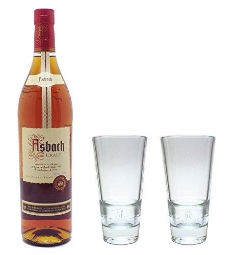 Asbach Uralt Weinbrand 0,7l 38% Set mit 2 Longdrink Gläsern