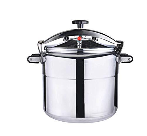 Olla olla grande con capacidad comercial olla hogar vapor olla de hotel olla universal utensilios de cocina Puede ser utilizado en la cocina suministros de hotel (Color : Silver, Size : 50L)
