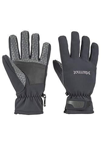 Marmot Herren Softshell Handschuhe, Winddicht, Wasserabweisend Glide Softshell Glove, Black, XL, 14260