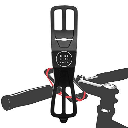 Bike Citizens Finn - Die universelle Smartphone Halterung für jedes Fahrrad und jedes Handy! Mit Fahrrad Navigation - Handy Halter für das Fahrrad, MTB oder Rennrad (Schwarz)