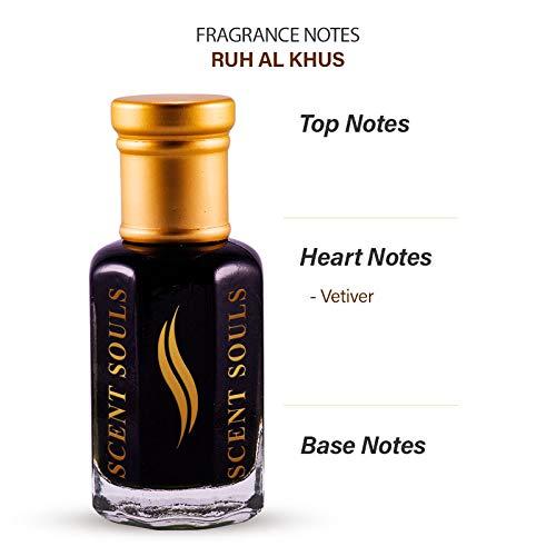 Scent Souls Ruh Al Khus (Heart of Vetiver) Perfume/Fragrance Oil Roll-on Attar for Men and Women , 3 ml