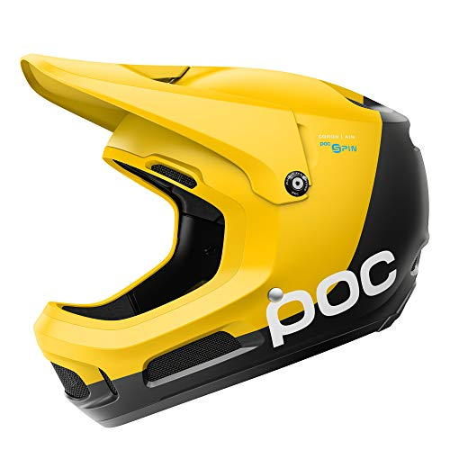 POC Coron Air Spin, Helmet for Downhill Mountain Biking, Sulphite Yellow, XLX