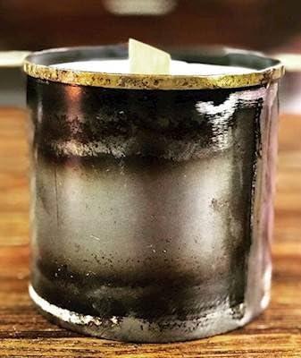 NAMDAR BARDIA Blue Metal online shop Pot Vase Wooden Wick Max 54% OFF Candle Scented Jar