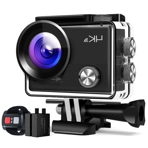 Action Camera 4K, 170° Wide-Angle Lens,EIS UHD WiFi Camera with Waterproof Case, Entry-Level...