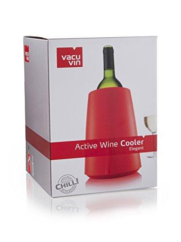 Vacu Vin Vd364912 Secchiello Rosso Con Elemento Refrigerante