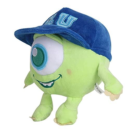 Monsters University Mike Wazowski Peluches Colgante, Muñeco De Anime De Peluche Suave, Regalo De Cumpleaños para Niños 20Cm