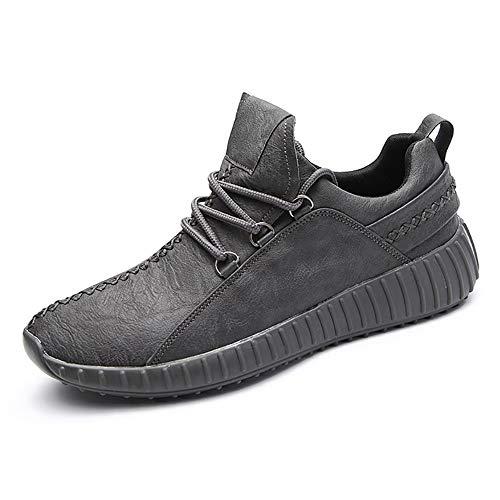 Sneaker para Correr Zapatos de Deportivas Jogging Cuero Veganos Zapatillas de Montaña Calzado para Caminar Transpirables Hombre Gris 42