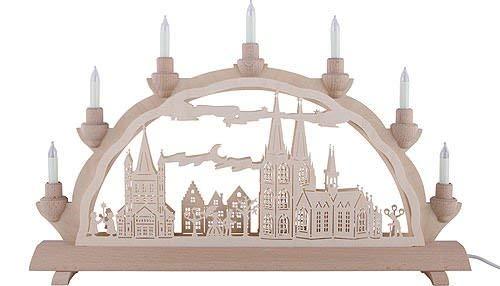 3D - Doppelschwibbogen - Kölner Dom - 50cmx32cm - Original Erzgebirge Schwibbögen - Erzgebirge-Palast