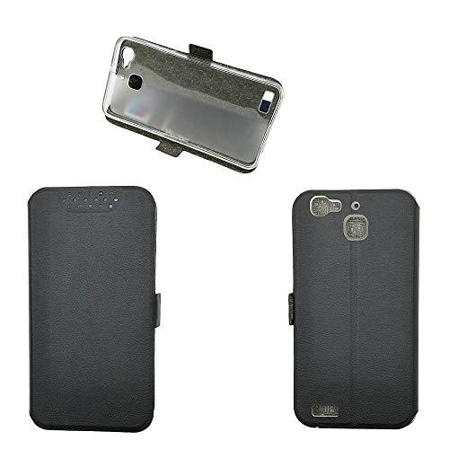 QiongniAN Funda para Huawei GR3 TAG-L01 TAG-L03 TAG-L13 TAG-L21 TAG-L22 TAG-L23 / Enjoy 5S Funda Carcasa Case Funda Black