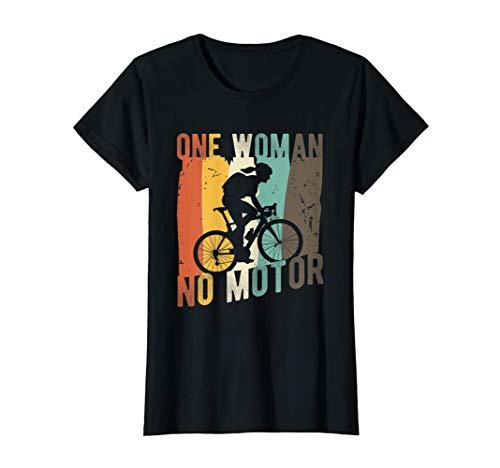 Womens Mountain Bike Gift | One Woman No Motor | Mountain Biking T-Shirt