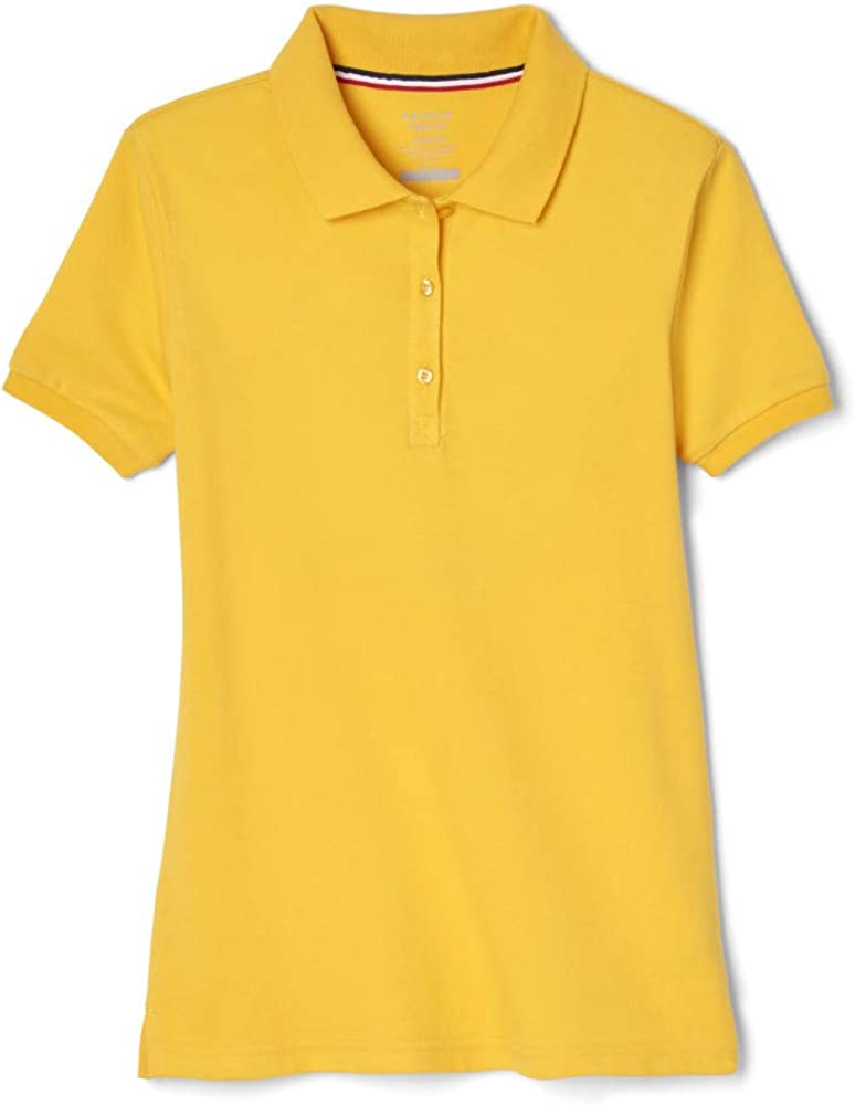 French Toast Girls' Short Sleeve Stretch Pique Polo Shirt (Standard & Plus)