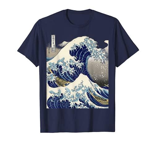 vintage japonés tatuaje arte kanagawa la gran ola camiseta Camiseta