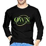 Changyejc Men's Inside TOP Oprah Winfrey Network Pre Launch Tee XXL T Shirts Men Long Sleeve Black