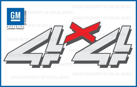 Decal Mods 4x4 Decals Stickers fits Chevy Silverado - F (1999-2006) Bed Side 1500 2500 HD (Set of 2)