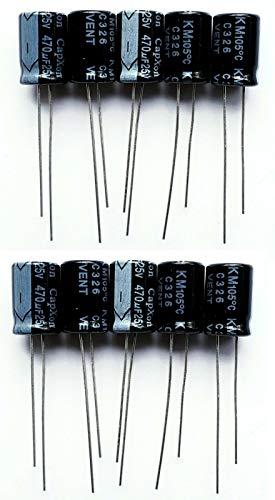 20x Elko Condensatore Radial 470µf 25v 105 ° C; sf025m471g20p50r; 470uf