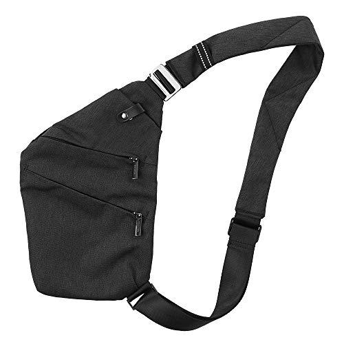Lixa-da Sac à Poitrine Sling Backpack Sac Bandoulière Homme Cross Body Bag Anti-Vol de Sécurité Poitrine Poche pour Hommes Femmes