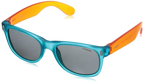 Polaroid P0115 Y2 89T Gafas de sol, Azul (Bluette Orange/Grey Polarized), 46 Unisex Niños
