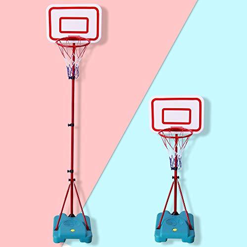 TONZE Canastas Baloncesto Infantiles Exterior Interior Altura Ajustable Balon Baloncesto Regalos Cumpleaños Infantil Regalos para Niños Juguetes Niños 3 4 5 6 Años,88cm a 190cm