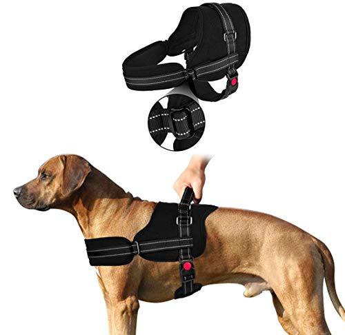 SlowTon Sin tirones Arnés de Perro, Suave Malla Acolchada Ajustable Fácil de Poner y Quitar el arnés con Hebilla de Bloqueo para Perros Grande Mascotas