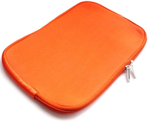 emartbuy® Odys WinPad V10 2 in 1 10.1 Zoll Tablet PC Orange Wasserfest Neopren weich Zip Tasche Hülle Sleeve (10 11 Zoll eReader/Tablet/Netbook)