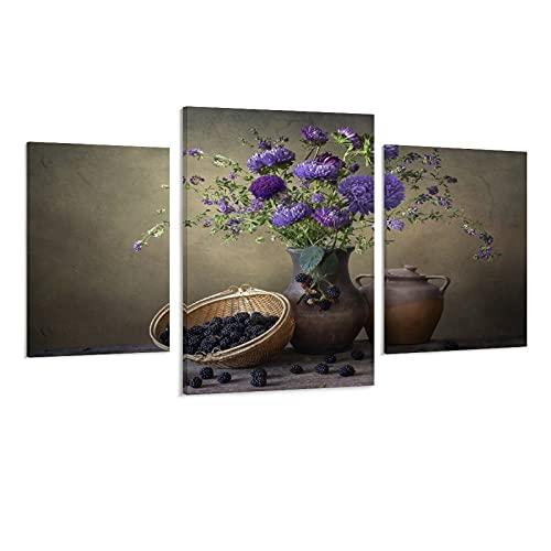 Poster artistico con colori violetti, per interni e decorazione della casa, motivo autunnale e viola