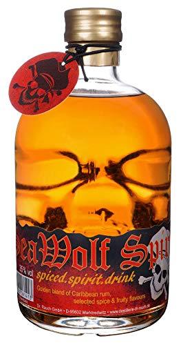 Sea Wolf Spirit - Spiced Rum 35% Vol. Totenkopfflasche, 1 x 0,5l
