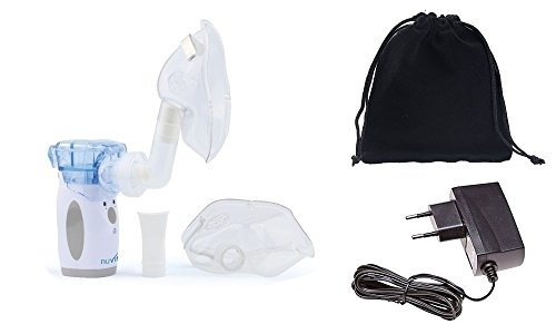 Nuvita 5076 Aerosol portatile silenzioso vibrating mesh + borsa + alimentatore