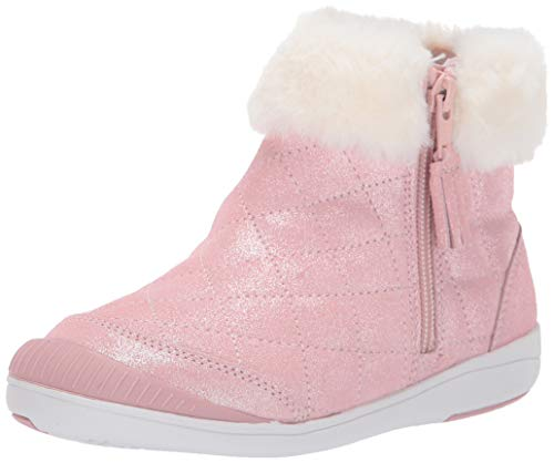 Stride Rite Baby-Girl's SR Chloe Ankle Boot, Pink, 6.5 M US Toddler