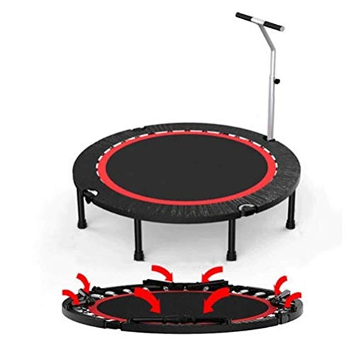 Foldable Trampoline with Handle Zero Gravity Rebounder, Outdoor Fitness Round Fold Trampoline, a Kind Affordable and Interesting Lose Weight Reshape Figure Bouncer Load: 350kg for Exercise and Burning