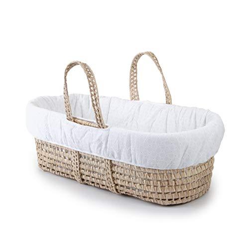 Tadpoles Moses Basket & Bedding Set, Eyelet, White, One-Size