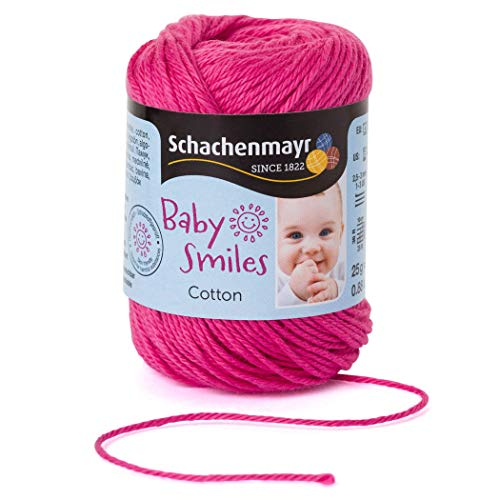 Schachenmayr Handstrickgarne Baby Smiles Cotton, 25g Lipstick Pink