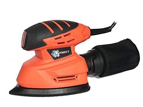 Lijadora Orbital Eléctrica Mouse 130W Pulidora de Mano Bolsa Polvo + Accesorios