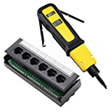 Yankok 6 Port CAT5/5e Patch Panel with 110 Impact Punch Down Tool Yellow (Swing-Out Hooks) Kit Sold As A Bundle
